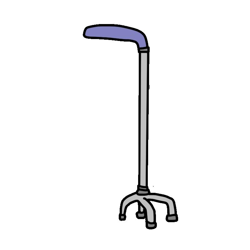 四点支持杖のイラスト