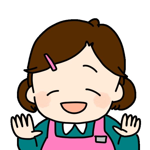 笑顔の介護士のイラスト