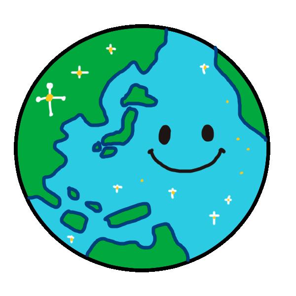 元気な地球のイラスト