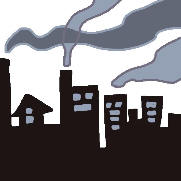 工場汚染のイラスト