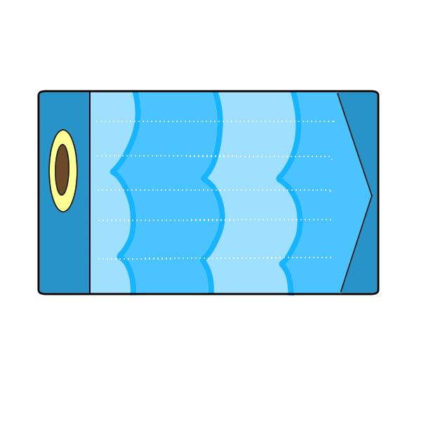 メッセージカード青色のイラスト