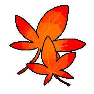 紅葉(赤)のイラスト