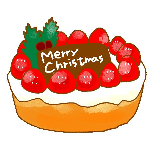 クリスマスケーキ1のイラスト