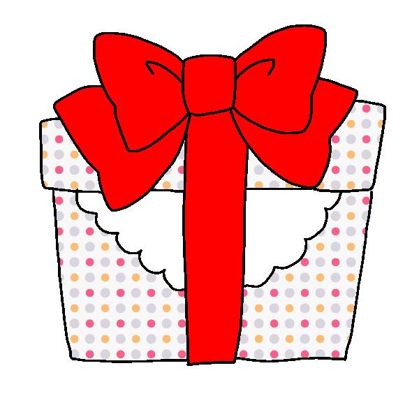 プレゼント赤のイラスト