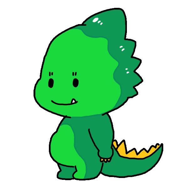 可愛い顔の恐竜のイラスト