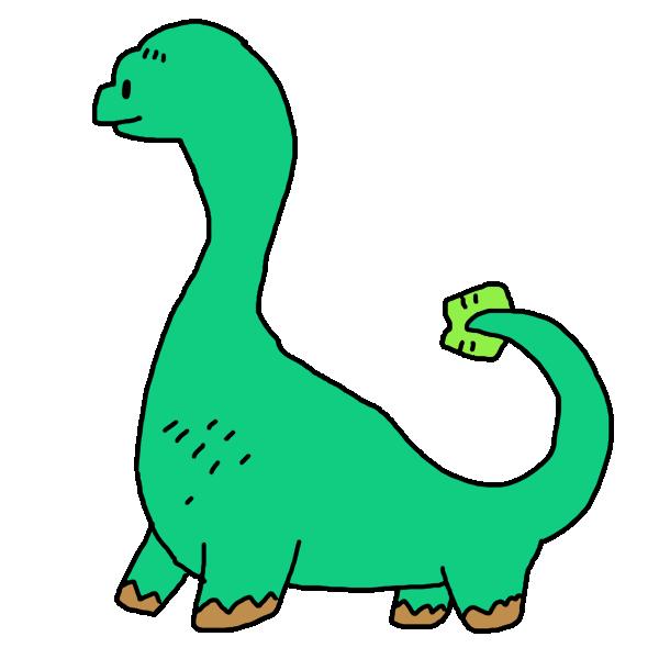 緑の恐竜のイラスト