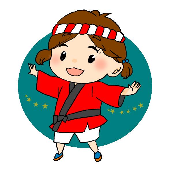 祭りの女の子のイラスト