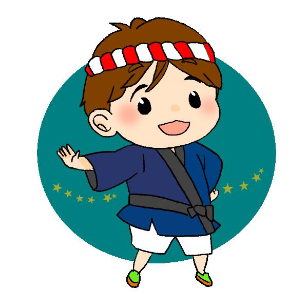 祭りの男の子のイラスト