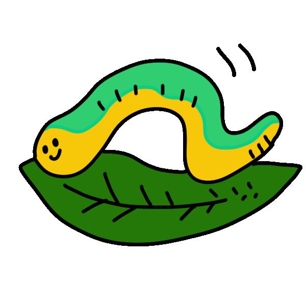 毛虫のイラスト