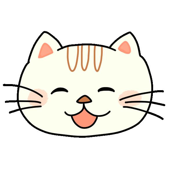 笑ってる猫のイラスト