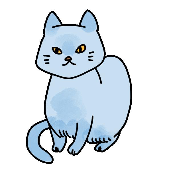 シャム猫のイラスト
