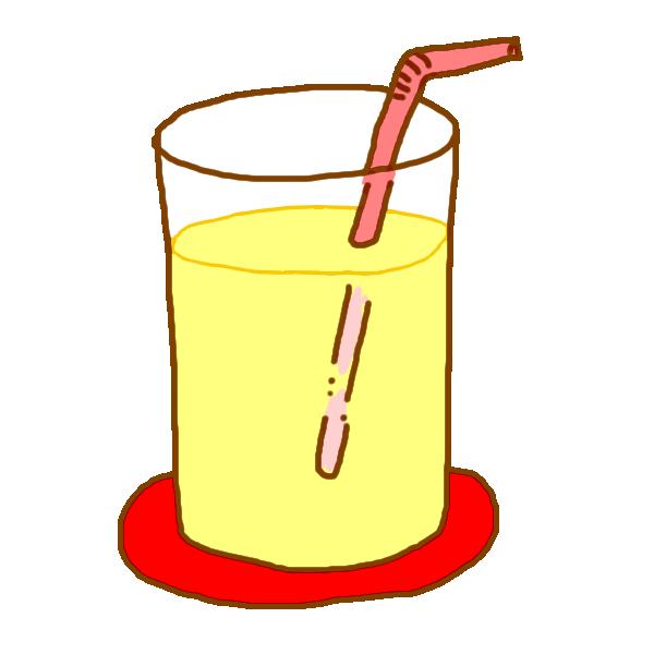 りんごジュースのイラスト