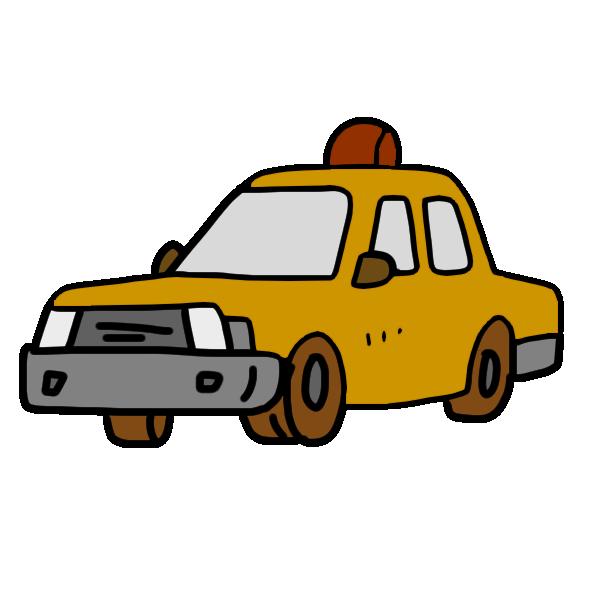 タクシー黄のイラスト