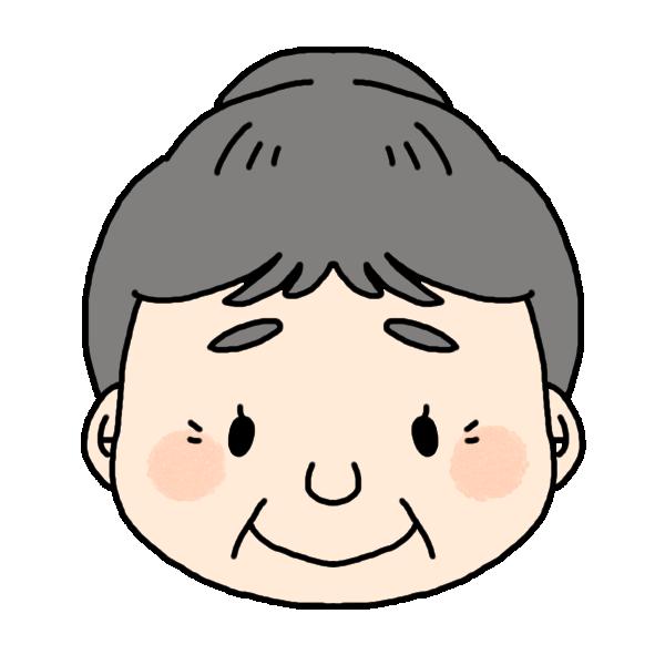 おばあちゃんのふつうの顔のイラスト