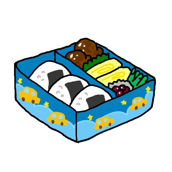 ブルーのお弁当のイラスト