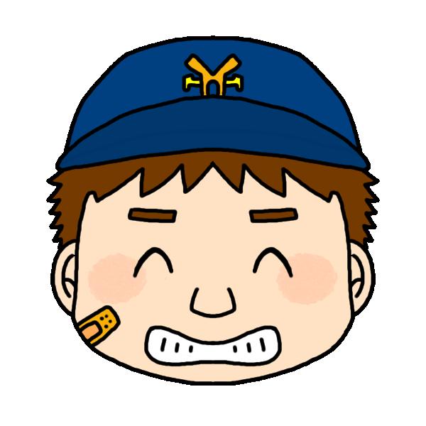 男の子の笑った顔のイラスト