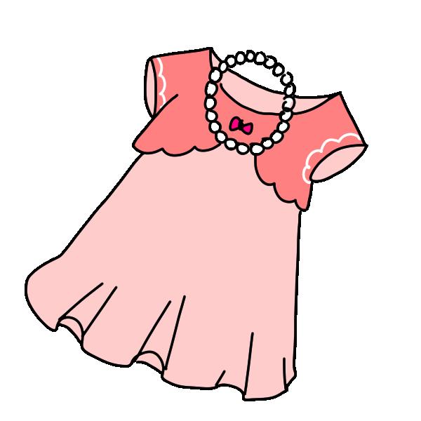 女の子のパーティ服のイラスト