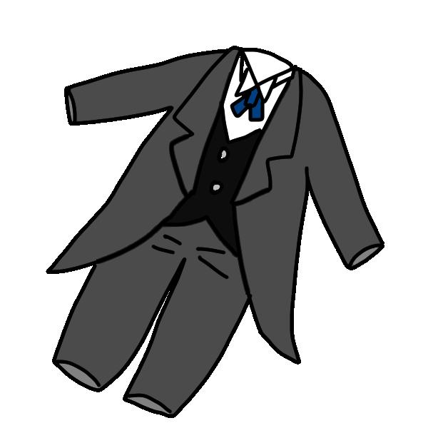 男の子のパーティ服のイラスト