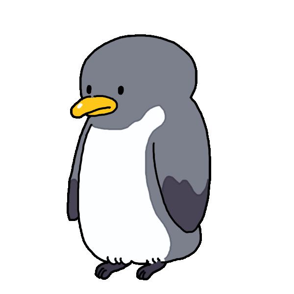 大人のペンギンのイラスト