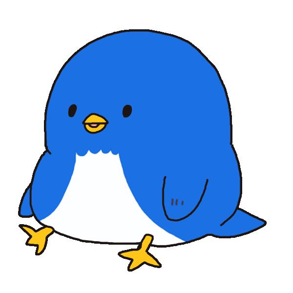 かわいいペンギン2のイラスト