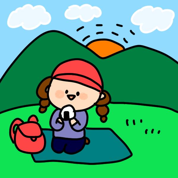 ハイキングのイラスト