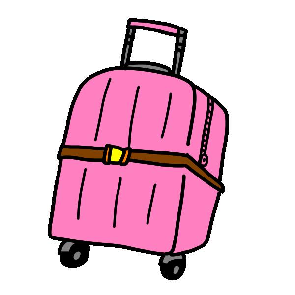 旅行かばん1のイラスト