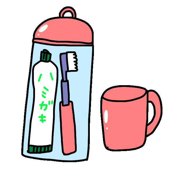 歯ブラシセットのイラスト