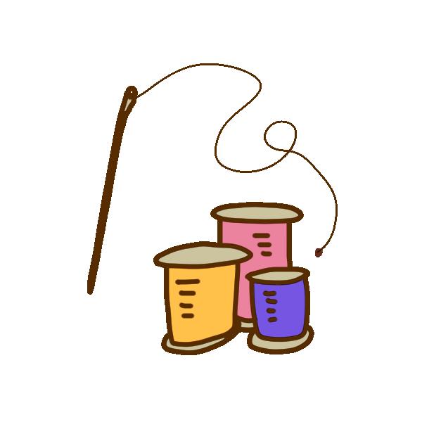 糸と針のイラスト