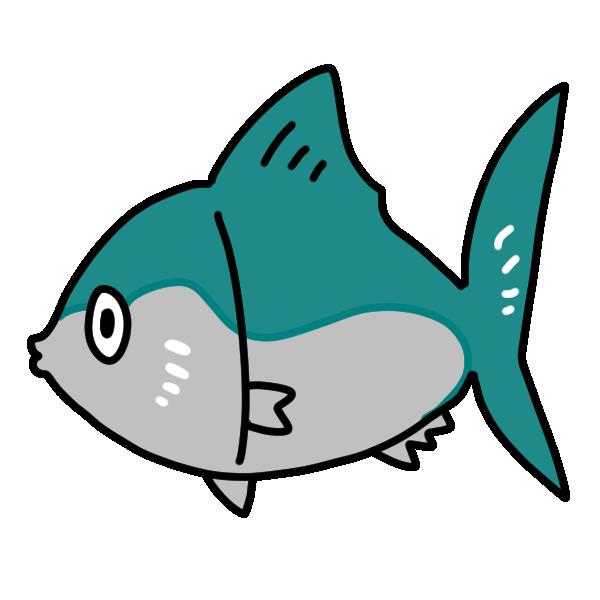 青い魚のイラスト