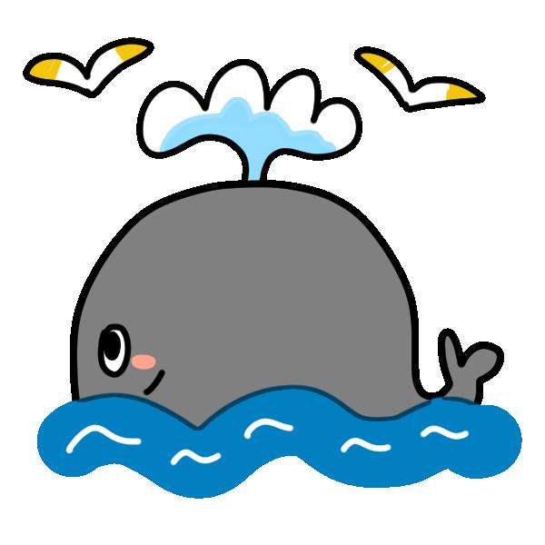 クジラのイラスト