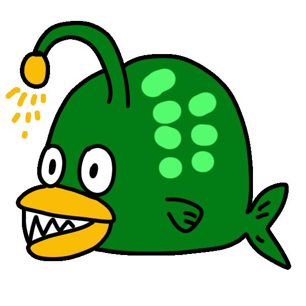 海底の魚のイラスト