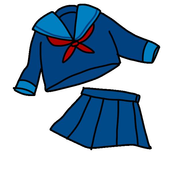 冬のセーラー服のイラスト