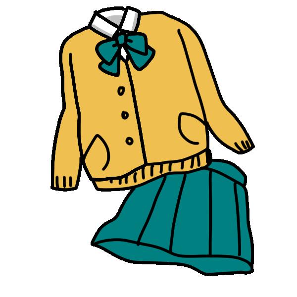 私学の制服のイラスト