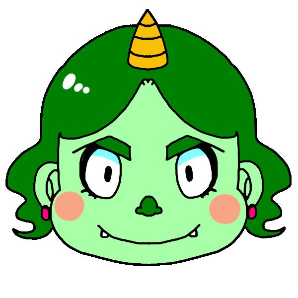 緑オニのイラスト