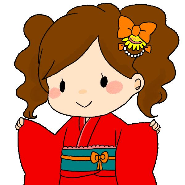 七歳の女の子のイラスト