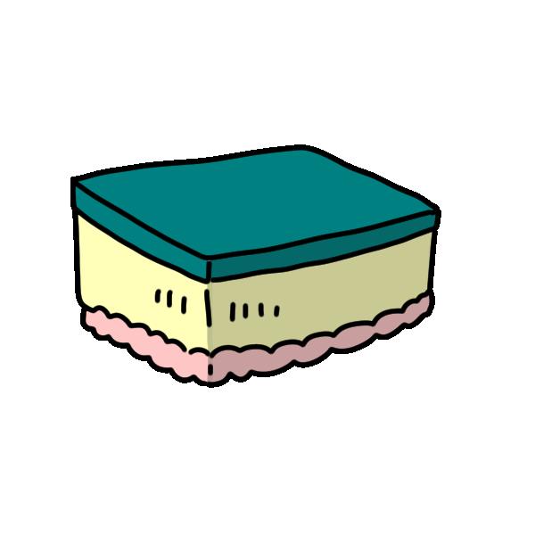 食器洗いスポンジのイラスト