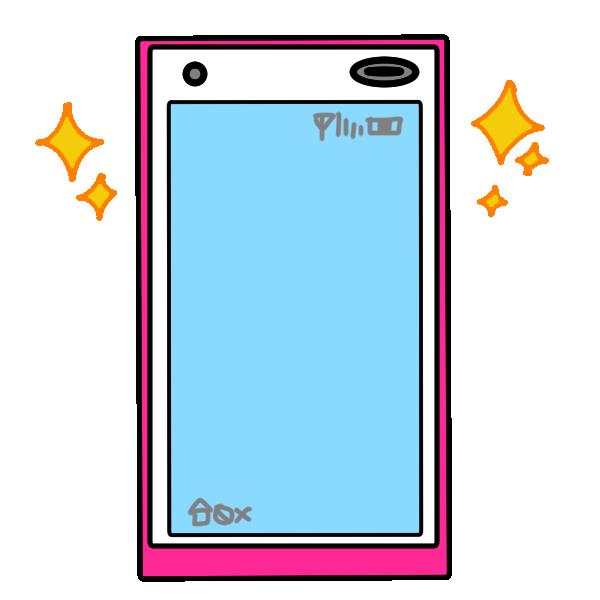 新品のスマートフォンのイラスト
