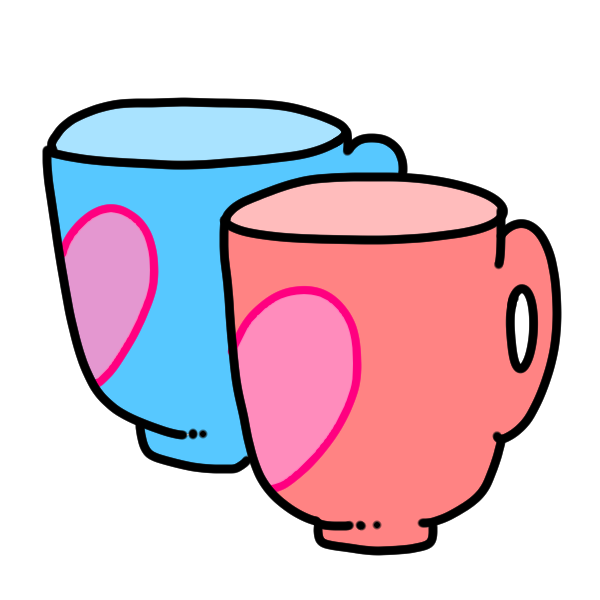 ペアカップのイラスト