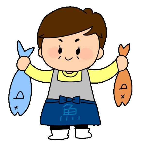 魚屋さんのイラスト