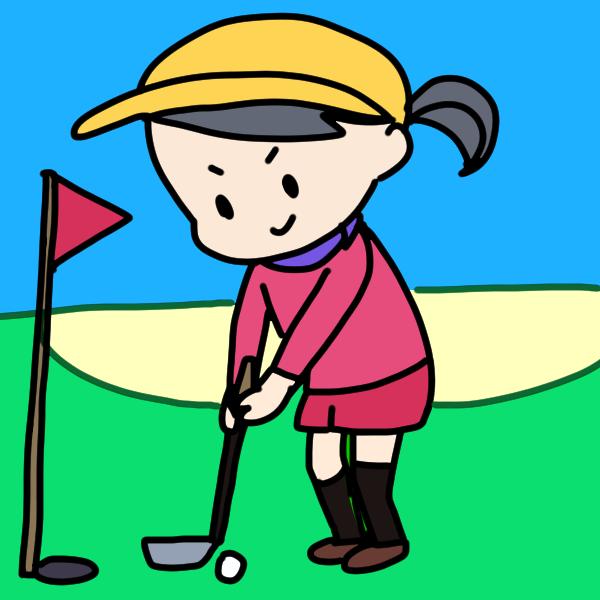 ゴルフが趣味の人のイラスト