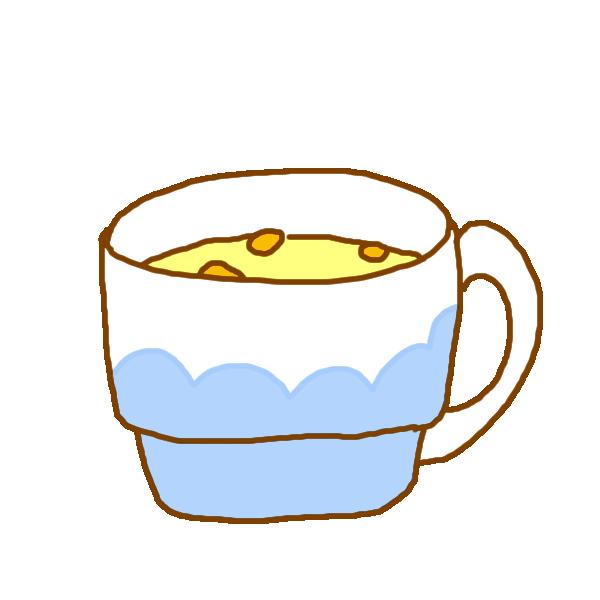 コーンスープのイラスト