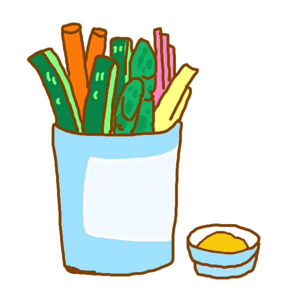 野菜スティックのイラスト