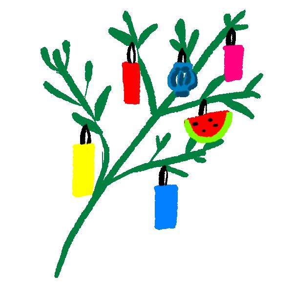 笹かざりのイラスト