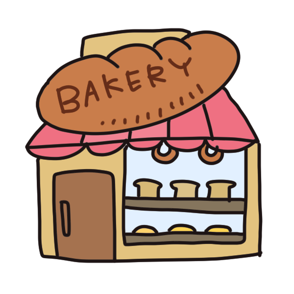 「フリー画像 パン屋 イラスト」の画像検索結果