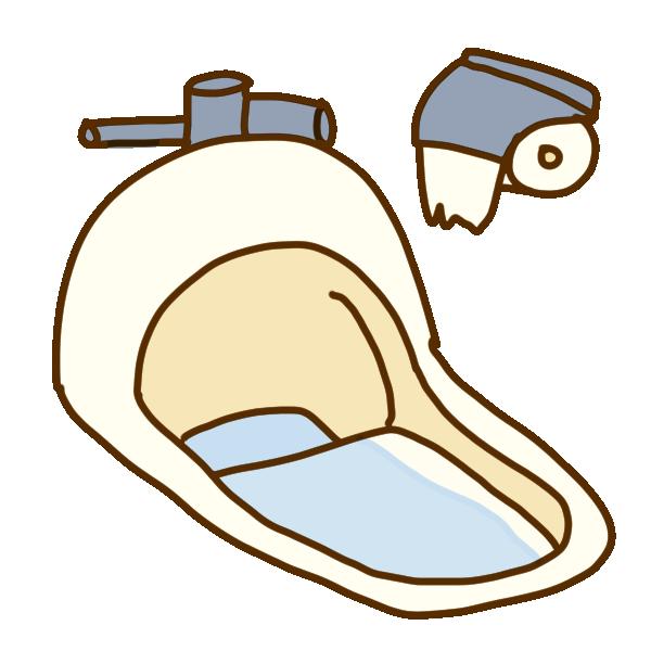 和式のトイレのイラスト