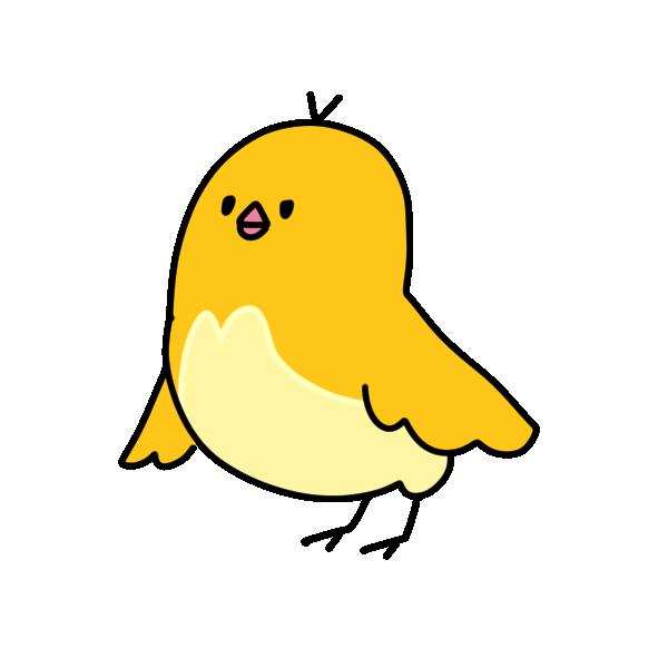 黄色の鳥のイラスト