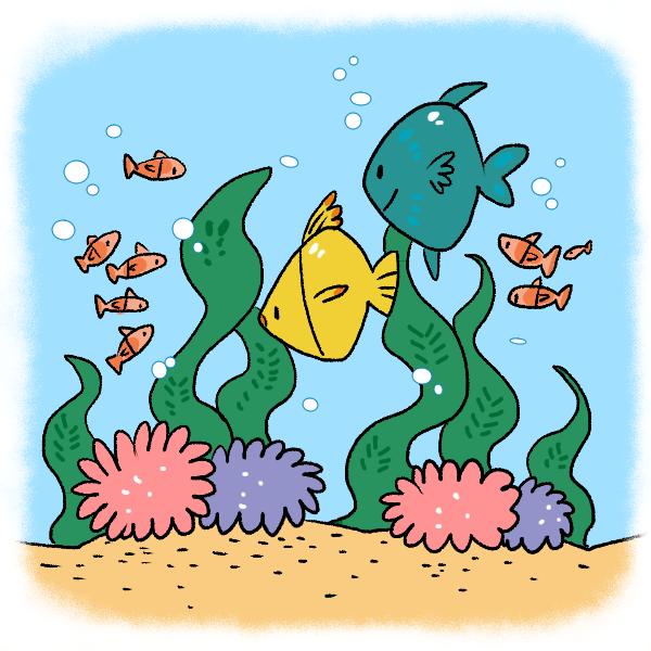 海の中のイラスト