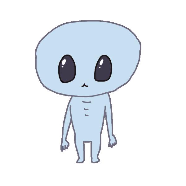 宇宙人1のイラスト