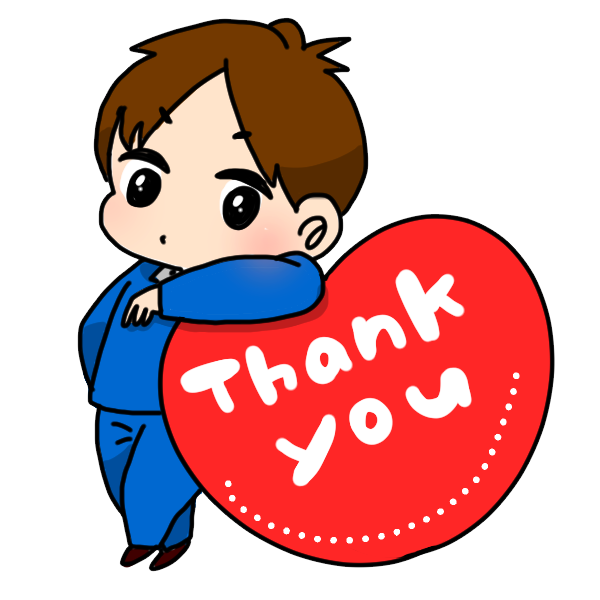 thank youのイラスト