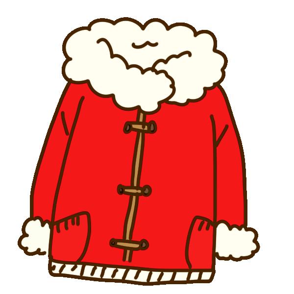 赤いコートのイラスト